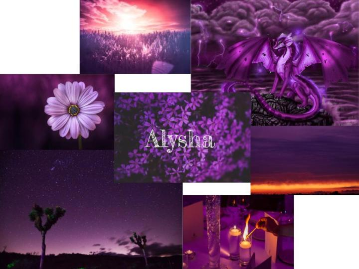 Alysha- Purple